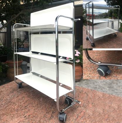 carrello pieghevole bianco